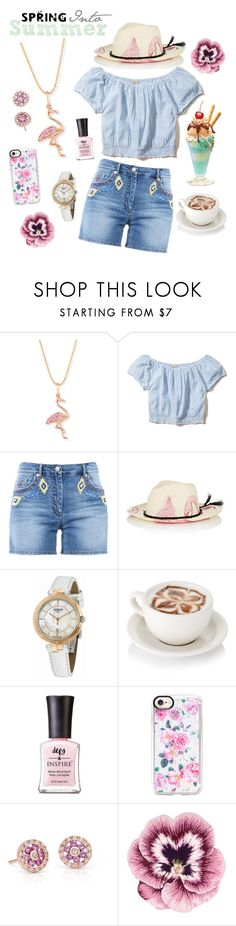 """Spring Into Summer"" by linmari ❤ liked on Polyvore featuring Sydney Evan, Hollister Co., Moschino, Ibo-Maraca, Tissot, Defy & Inspire, Casetify, Blue Nile and Nourison"