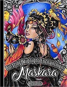 Maskara : Bursting Midnight Enchantment - Artist Edition Adult Coloring Book + 1 mini poster, spiral bound, single sided, perforated pages, toothy paper - https://www.dbargains.com/books/maskara-bursting-midnight-enchantment-artist-edition-adult-coloring-book-1-mini-poster-spiral-bound-single-sided-perforated-pages-toothy-paper/