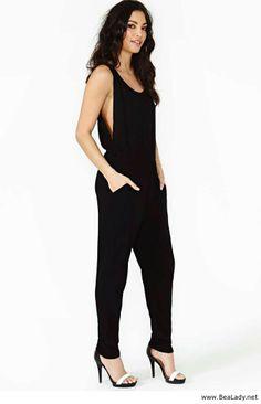 f4683c75813 Dark Jumpsuit for women - with a t-shirt Black Jumpsuit