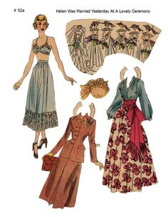HELEN ~~~ Lucy Eleanor Leary, Boston Sunday Post, Newspaper Paper Dolls 1949 ~ 1 of 2