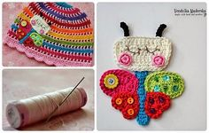 How to sew crocheted applique