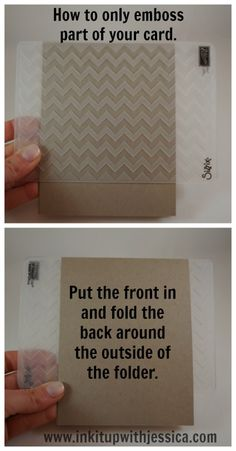 how to emboss only part of a card