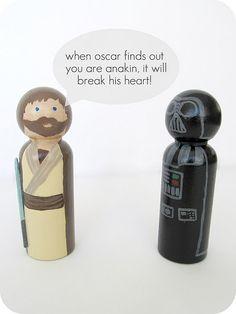 star wars peg dolls. Owen would love it.