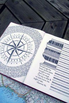 Art Journal http://blog.paperblanks.com/2013/02/peek-inside-rebeccas-journal/