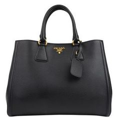 PRADA Vitello Diano Double Handle Tote at Flannels Fashion