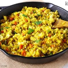 Idli Upma - A simple and delicious Indian dish made with semolina.