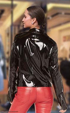 Raincoats For Women Christmas Gifts Leather Pants Outfit, Leather Jeans, Leather Jacket, Vinyl Raincoat, Pvc Raincoat, Alicia Vikander Style, Black Raincoat, Leder Boots, Vinyl Clothing