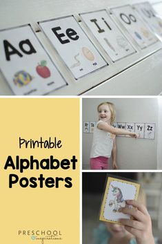 Use these beautiful alphabet posters or letter cards for a variety of literacy activities! Alphabet Wall Cards, Alphabet Posters, Printable Alphabet, Alphabet Activities, Preschool Alphabet, Literacy Skills, Early Literacy, Kindergarten Readiness