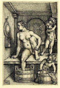 """Hans Sebald Beham , """"Bad"""",  1530-50"""