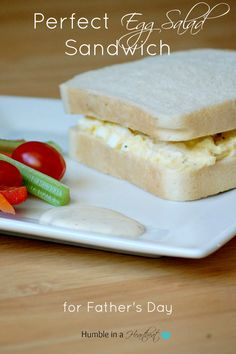 Perfect Egg Salad Sandwich for Father's Day