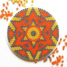 Mandala hama perler beads by Anna Eidenberg