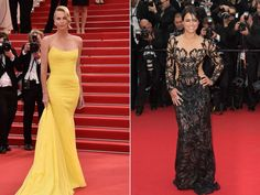 PHOTO: Charlize Theron and Michelle Rodriguez attend the Mad Max : Fury Road Premiere during the 68th annual Cannes Film Festival on May 14, 2015 in Cannes, France.