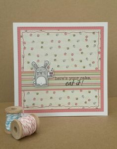 Card created using Taylored Expressions Party Grumplings stamps and matching dies.