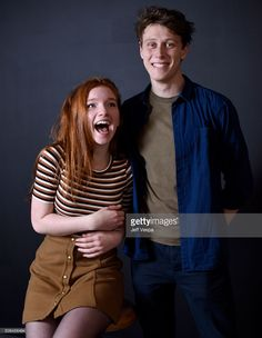 Actress Annalise Basso (L) and actor George MacKay from the film 'Captain Fantastic' pose for a portrait during the WireImage Portrait Studio hosted by Eddie Bauer at Village at The Lift on January 2016 in Park City, Utah. George Mackay, Eddie Bauer, Hollywood Actresses, Actors & Actresses, Pretty People, Beautiful People, Plain Girl, Portrait Studio, Captain Fantastic