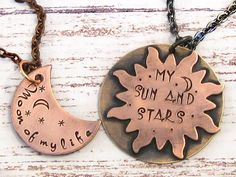 Game of Thrones - His and Hers Khal - Khaleesi Hand Stamped Necklaces - Gifts for Couples, Dothraki
