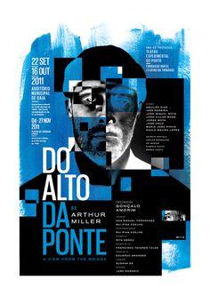 posters for cultural themes by joão césar nunes, via Behance