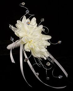 Single Flower Bouquet @ Brilliant Wedding Jewelry