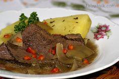 Sobotní hovězí v pomalém hrnci Crockpot, Slow Cooker, Steak, Beef, Cooking, Ph, Food, Detail, Meat