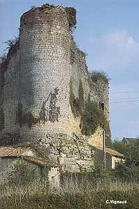 Château de Gençay, la Tour du Moulin, Vienne, France
