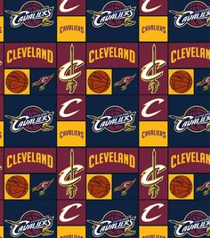 "Cleveland Cavaliers Cotton Fabric 44"" - Patch"