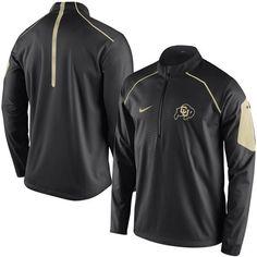 Nike Colorado Buffaloes Black Coaches Sideline Alpha 1/4 Zip Performance Jacket