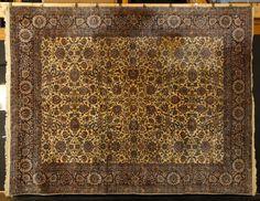 Persian Kerman carpet, approximately 9' x 12'.