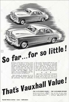 1954 Vauxhall Vauxhall Motors, Square Deal, Commercial Vehicle, Car Brands, Motor Car, Art Cars, Ads, Advertising