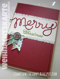 stampin up stampinwithfanny merry christmas weihnachtskarte #stampinwithfanny