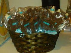 Chocolate Onsie Taffy Basket