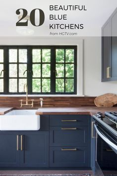 Sit back, relax and discover new ways to incorporate the calming hue of blue into your next kitchen remodel.