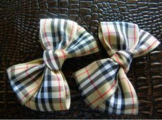 Alligator Scottish Check Hair Clips | Bows  http://laprensaccessories.com/?page_id=12#ecwid:category=0=product=8342965