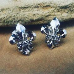 b0a6d8805 Earrings Gold Diamonds Fleur De Lis. Gothic EarringsSilver EarringsStud  EarringsRoman Paul18k ...