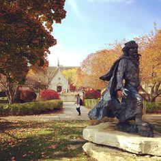 Father Marquette in the fall #Marquette #College