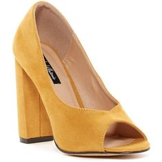 fa1a84e04c3 Michael Antonio Haver Chunky Block Pump ( 30) ❤ liked on Polyvore featuring  shoes
