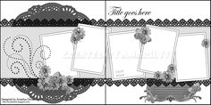 double page scrapbooking template.Nice double page scrapbooking template. Scrapbook Layout Sketches, Scrapbook Templates, Scrapbook Designs, Scrapbooking Layouts, Wedding Scrapbook Pages, Scrapbook Paper Crafts, Scrapbook Cards, Heritage Scrapbooking, Picture Layouts