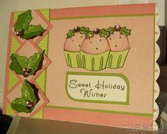 puddings cupcake christmas card
