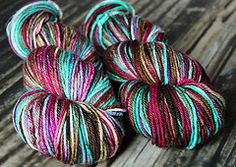 Yummy hand dyed yarn from Blissful Knits