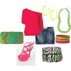 80's retro Outfit, created by jklmnodavis on Polyvore