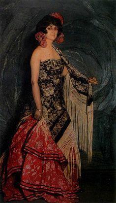 Ignacio Zuloaga y Zabaleta  (1870-1945) Flamenco Dancer, Antonia la Gallega, 1912
