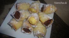 Linecké kornútky (fotorecept) - recept   Varecha.sk Dairy, Eggs, Cheese, Breakfast, Food, Basket, Morning Coffee, Essen, Egg