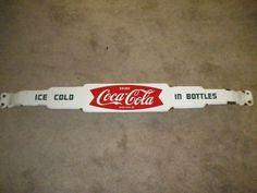 vintage coca cola coke porcelain enamel door push sign