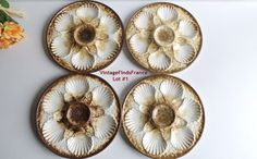Go pentyofamelie.com - french Longchamp majolica oyster plates set of 4