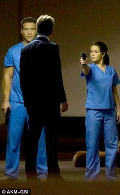 Jai Courtney, Emilia Clarke and Jason Clarke on set of Terminator Genesis