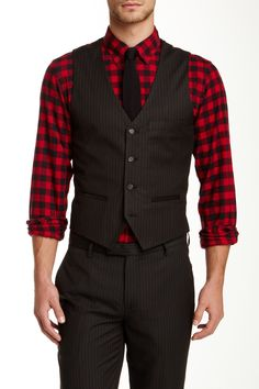 Edge by WD.NY Black Pinstripe Suit Separates Vest by Edge by WDNY Suits on @nordstrom_rack