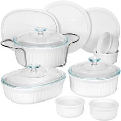 CorningWare French White 14-Piece Bakeware Set - $45