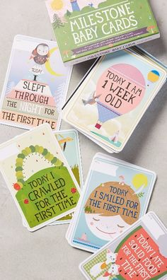 Baby Milestone Cards http://www.milestone-world.com/en/products/babys-first-year-original-edition