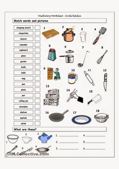 Our house speaking cards parts of a house and for Kitchen utensils in spanish