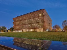 The award-winning National Museum of African American History and Culture was designed by Adjaye Associates in partnership with the Freelon Group, Davis Brody Bond, and SmithGroupJJR. Exhibition design was by Ralph Applebaum Associates. #dwell #moderndesign #modernarchitecture