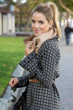 Lovethe coat and scarf combo