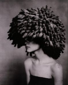 | Dior | spring 2002 Couture - BIG knit hat